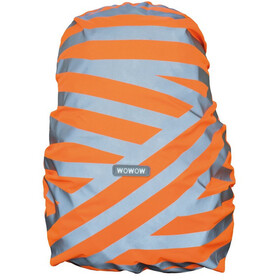 Wowow Berlin Backpack Cover silver reflective streifen/orange